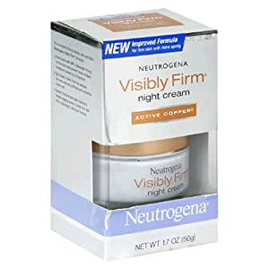 Neutrogena Visibly Firm Night Cream, Active Copper, 1.7 Ounce
