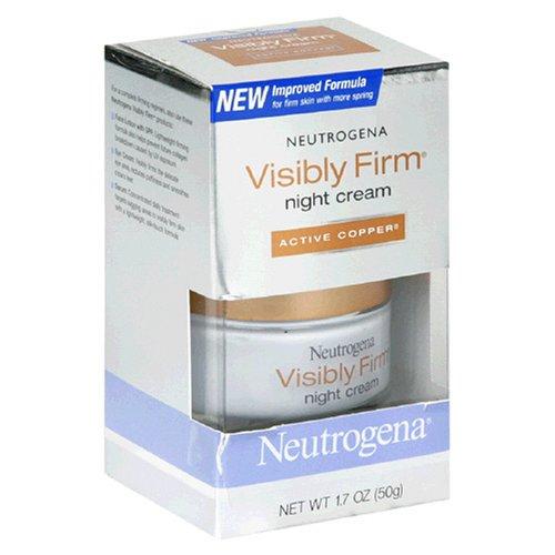 Crème Neutrogena Visibly Firm Nuit, cuivre active, 1,7 once