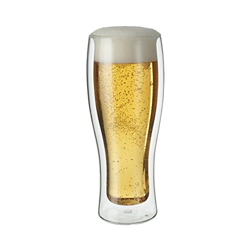 ZWILLING J.A. Henckels 39500-210 Double-Wall Beer Glass Set, 14 fl. oz.