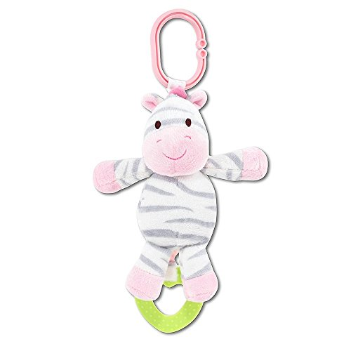 Carters Chime and Chew Zebra Baby Toy