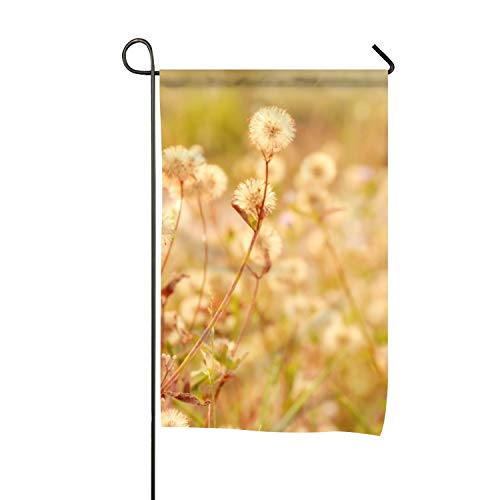 BaiGrid Earth Flowers Dandelion Seasonal Lawn Yard House Garden Flags All-Weather Polyester 28 x 40 inch