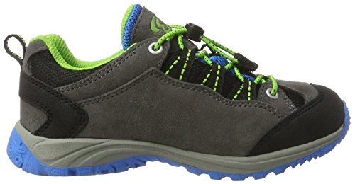 Bruetting Mount Bona, Zapatos de Low Rise Senderismo Unisex Niños, Gris (Grau/Blau/Lemon), 28 EU