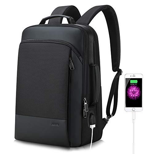 BOPAI Mochila Antirrobo de Capacidad Inteligente 15.6 Pulgadas Hombre Mochila para portátil Multiusos Daypacks de USB…