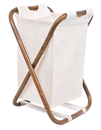 BIRDROCK HOME Single Rattan Laundry Hamper - Machine Washable Canvas Lining - Lightweight and Foldable - Removable Bag - Organizer - Durable and Lightweight: designed from polyester canvas to be lightweight yet durable for frequent use in your bedroom, laundry room or bathroom. Foldable and Sturdy: the butterfly Rattan frame makes it stable yet easy to collapse. Simple Design: the simple unique design adds texture and warmth to any room for ease of hiding dirty clothes - laundry-room, hampers-baskets, entryway-laundry-room - 416TQgA2slL -