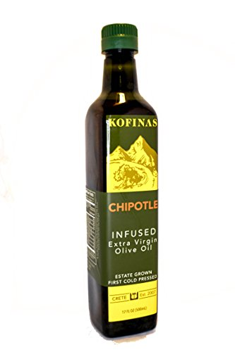 Infused Extra Virgin First Cold Pressed Olive Oil Chipotle Fusion 500 Ml (17 Oz) (Chipotle Fusion: Chipotle Pepper, Thyme, Red Pepper, Basil, Bay Leaf Flavored)