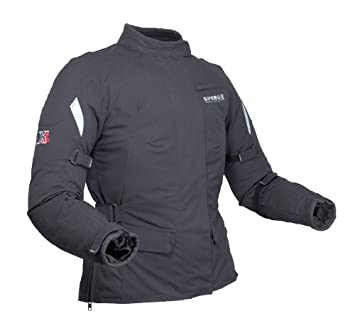 Mujer Moto Chaqueta - Impermeable chaqueta textil con Kevlar ...