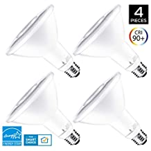 4-Pack of Hyperikon® PAR38 LED Bulb, ENERGY STAR®, 14W (100W equivalent), 1240lm, 3000K (Soft White Glow), CRI90+, Flood Light Bulb, 40° Beam Angle, Medium Base (E26), Dimmable, UL-Listed