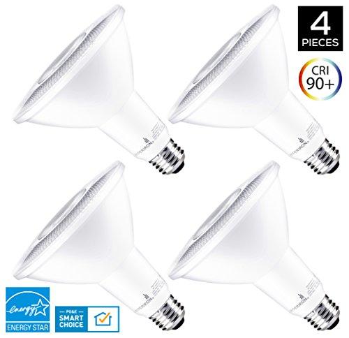 Hyperikon PAR38 LED Bulb, 14W (100W equivalent), 1220lm, 3000K (Soft White Glow), CRI 90+, Flood Light, Medium Base (E26), Dimmable, Energy Star, Pack of 4