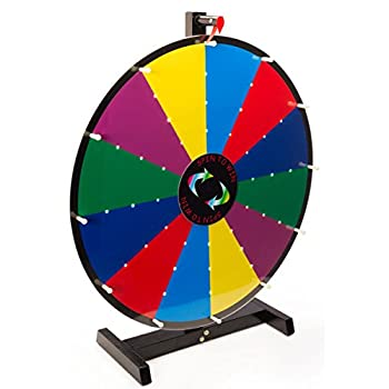 Image of Casino Prize Wheels Displays2go Write-On with Dry Erase Illuminated Tabletop Prize Wheel, 24-Inch