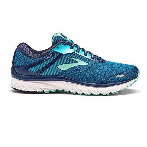 Brooks Women's Adrenaline GTS 18 Running Shoe Navy/Teal/Mint Size 6.5 M US