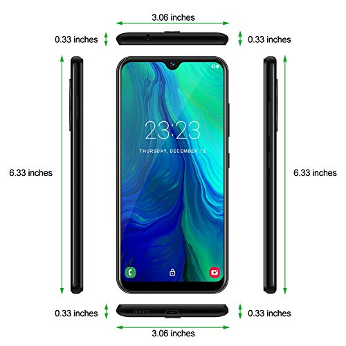 Xgody 4G LTE GSM Unlocked Smartphone 6.3inch Note 8 LTE 4G 16GB+2GB Android 9.0 Unlocked Cell Phone Smartphone 4Core