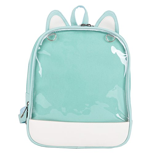 LunaCatz 'Ita-Bag' Backpack with Cat Ears and Transparent
