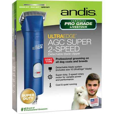 Andis UltraEdge AGC Super 2Speed Pet Clipper Blue by Andis