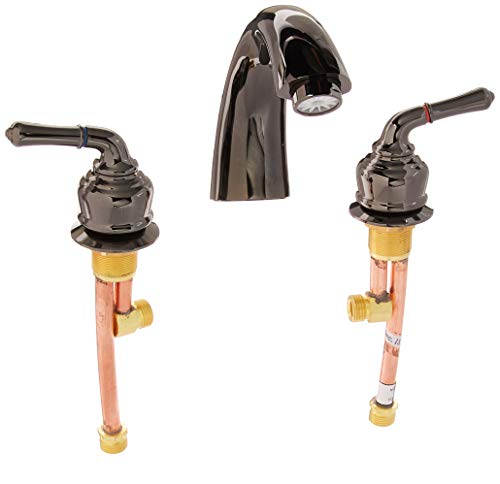 "Kingston Brass NB360 Water Onyx Roman Tub Faucet 7-3/4"" Black Stainless Steel"