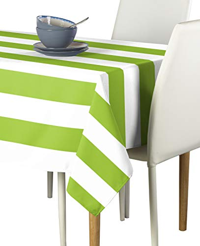 Fabric Textile Products, Inc. Lime & White Cabana Stripe Milliken Signature Tablecloths - Assorted Sizes (60