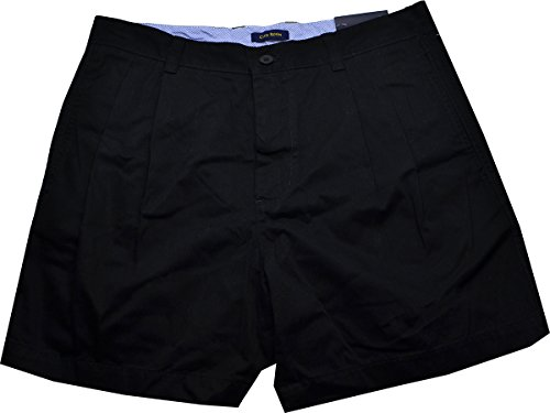 Club Room Mens Twill Double Pleat Casual Shorts Black 33 ()