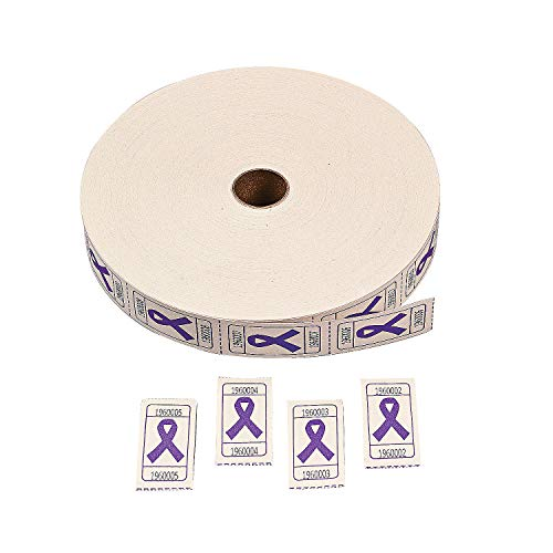 Fun Express - Purple Ribbon Single Roll Tickets (2000) - Party Supplies - Entertainment - Admission Tickets & Wristbands - 1 Piece (Purple Roll Of Tickets)