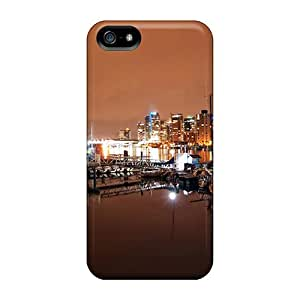 Slim Fit Tpu Protector Shock Absorbent Bumper Vancouver Coal Harbour Nights Case For Iphone 5/5s