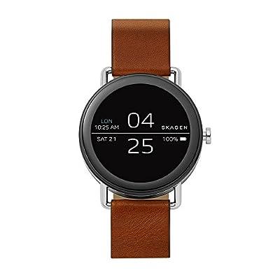 Skagen Falster Stainless Steel and Brown Leather Smartwatch SKT5003 by Skagen