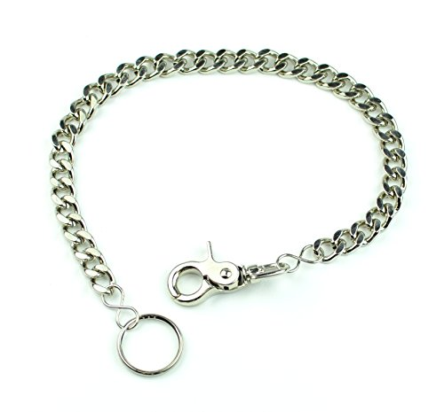 Heavy Diamond Cut Key Chain or Bikers Wallet Chain Punk Rock Style with Trigger Clasp (18)