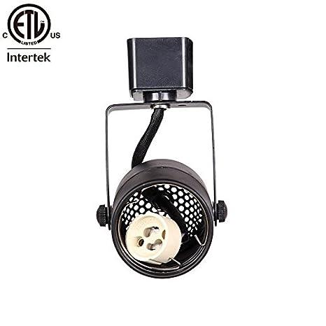 king sha black gu10 line voltage track lighting head bulb not