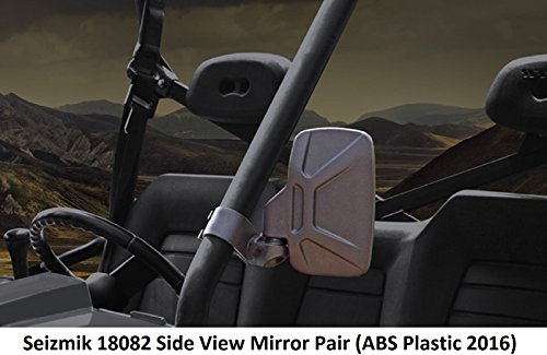Seizmik 18082 Side View Mirrors ABS Plastic 2016 Model for Yamaha Viking, Can-Am Commander & Maverick, Kubota - Maverick Mirror