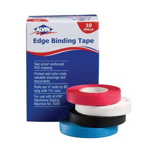 Reinforced Edge Binding Tape Color: Black by Alvin and Co. by Alvin and Co.