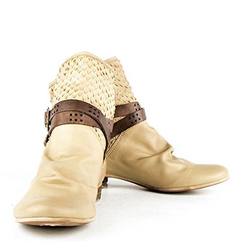 Felmini - Chaussures Femme - Tomber en amour avec Faro 8760 - Bottes - Cuir véritable - Multicolore