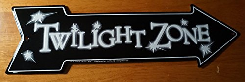 Twilight Zone Arrow Black & White Halloween Sign Haunted House Tv Prop Decor ()
