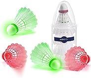 XXXYYY LED Badminton Birdies, 2021 Unique Lighting Badminton Shuttlecocks, Tip Glow Birdies for Dark Night, Ba