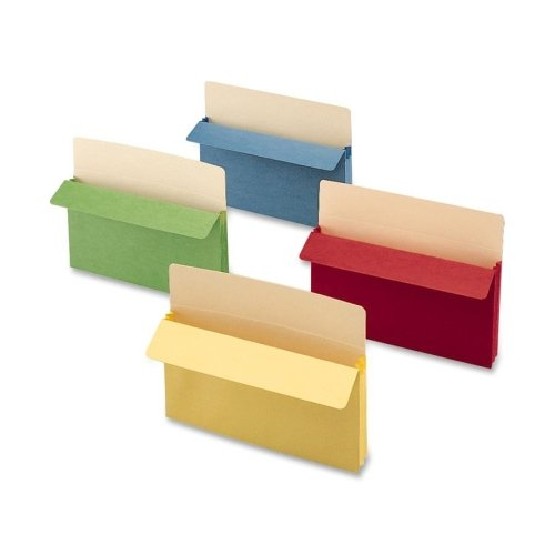 Wholesale CASE of 5 - Smead Colored Top Tab File Pockets-Top-Tab File Pocket, Ltr, 11-3/4''Wx9-1/2''H,3-1/2'' Exp,Asst.