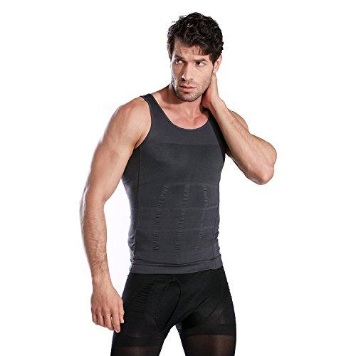 b43bb70f56abcf HOTER Mens Slimming Body Shaper Vest Shirt Abs Abdomen Slim ...