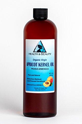 Apricot Kernel Oil Unrefined Organic Virgin Cold Pressed Raw Pure 16 oz