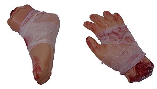 Halloween Bloody Limbs Value Pack - Hand & Feet   Perfect Halloween Horror Haunted House Yard (Halloween Yard Decorations Crafts)