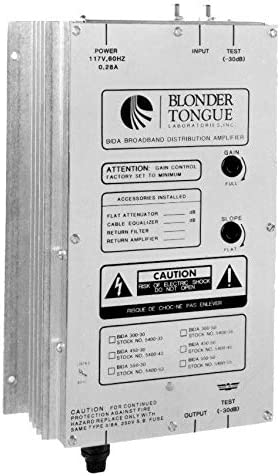 BLONDER TONGUE BIDA 550-50 BROADBAND DISTRIBUTION AMPLIFIER