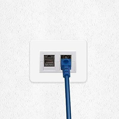 kwmobile Roseta RJ45 para Pared con 2 módulos Keystone y 2 Puertos Ethernet CAT6A: Amazon.es: Electrónica