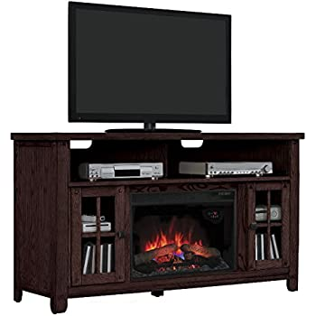 Amazon Com Chimneyfree Media Electric Fireplace For Tvs Up To 65 Quot Brown 60 Quot W X 19 5