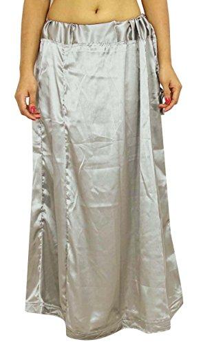 IBA Indianbeautifulart Satin Silk Saree Petticoat Underskirt Bollywood Indian Lining For Sari