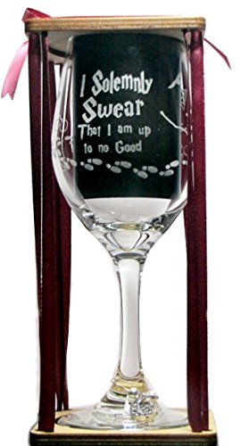 Solemnly Swear Degrees Engraved Glass product image