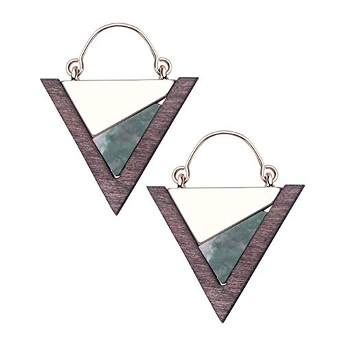Wooden Triangle Natural Ornaments Crafts Blank Jewelry Making Accessories Wood Pendant Charms Top Drilled Hole DIY Earring Jewelry Making Findings Craft Supplies