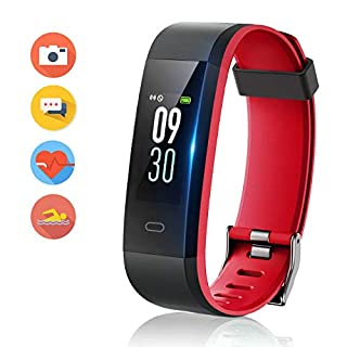 416TXyFmmFL. SS320 HolyHigh 115C Fitness Band,Wateproof Activity Tracker with Heart Rate&Sleep Monitor Call SMS Alert, Digital Watch Step…