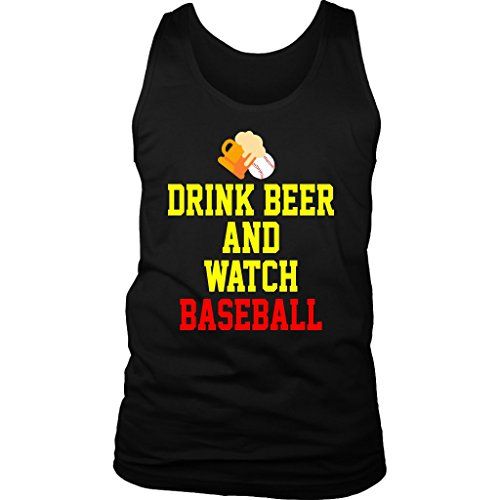 Baseball Tank Tops - Drink Beer and Watch Baseball Funny Gift for Men, Player, Coach, Team Sport T-Shirt Sleeveless BB.1.17