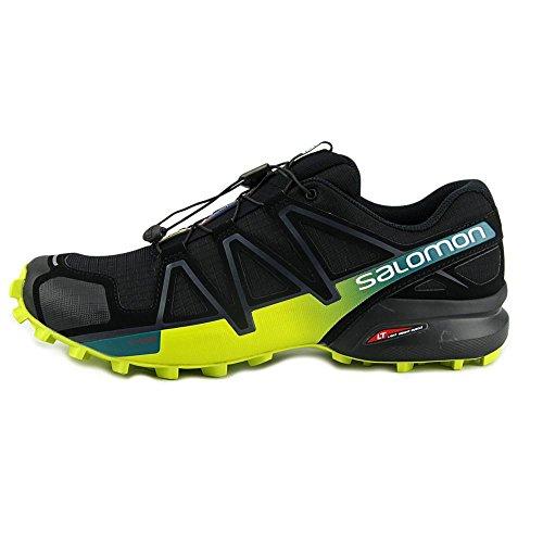 Salomon Speedcross 4, Zapatillas de Trail Running para Hombre BLACK/EVERGLADE/SULPHUR SPRING