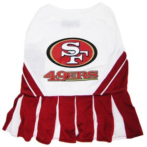 Pets First SAN FRANCISCO 49ERS CHEERLEADER DOG DRESS COSTUME LICENSED NFL ( Medium) dc8072e24