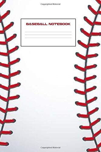 """Read Online Baseball Notebook: Baseball Notebook 6"""" x 9"""" 100 Pages Dot Grid Lined Paper pdf epub"""