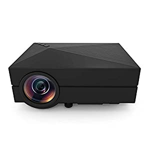 GM60 Projector 800x480p with Multimedia LCD LED Portable Screen for Entertainment Home Cinema Theater & Video Games Movie Night with Pico Optical Keystone USB/AV/SD/HDMI/VGA Interface