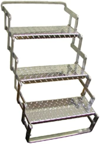 "B001U7MWGW C. R. Brophy AS03 Aluminum Scissor Steps - 3 Step, 24"" - 30"" Extended Vertical Height 416TZOxyLdL."
