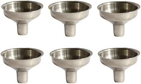 Stainless Steel Mini Funnel for Essential Oil Bottles / Flasks - Pack of 6