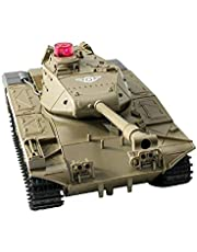 Remote Control Tank,Mini Rc Tank , 2.4g Automatic Demonstration Electric Tank Children's Toy Tank with Simulation Shooting Soundfor Boys and Girls 20.9x11.8x10.3cm