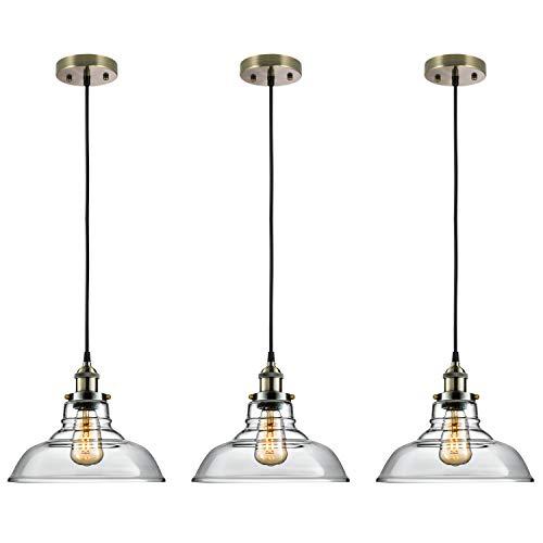 Salking Industrial Hanging Lamp, Vintage Edison Glass